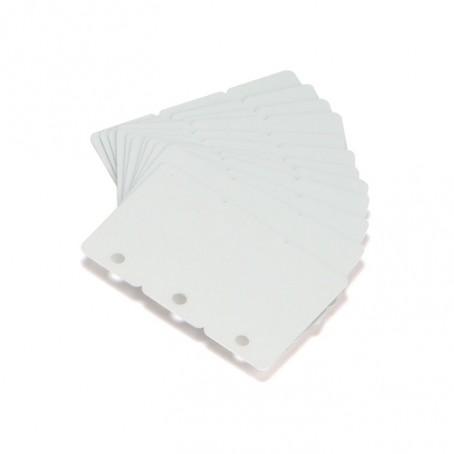 Kunststoff-Karten, 0,76mm, ausbrechbare Schlagworte, weiß, 500 Stück, Zebra Premier PVC Karten