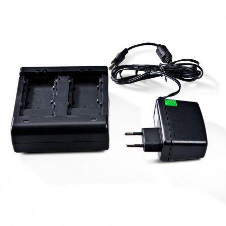2-fach Batterie Ladegerät, mit Universal Adapter