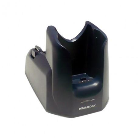 Einfach-Lade- und Übertragungsstation mit extra Akkuladeschacht, RS232-Anschluss, integriertes Analog-Modem 56kbit