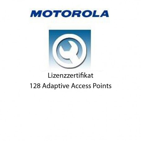 Motorola RFS6000 - Lizenz Zertifikat für 128 Adaptive Access Points