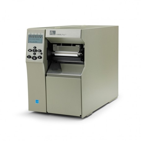 Zebra 105SLPlus, 200 dpi, Cutter und Korb, 64MB Flash, ZebraNet b/g Wireless Print