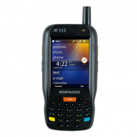 Datalogic Elf, 1D Laser, BT, WLAN, UMTS HSDPA, GPS, Green Spot, WM 6.5, 256MB RAM/256MB Flash, num