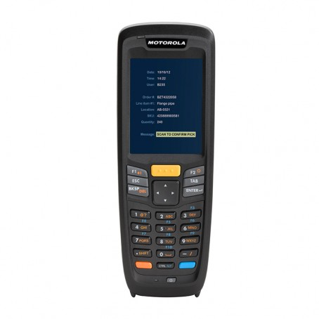 Motorola MC2180, Kit, 1D Laser, WLAN 802.11a/b/g/n, Bluetooth, Standard Akku, Windows CE 6.0, engl.