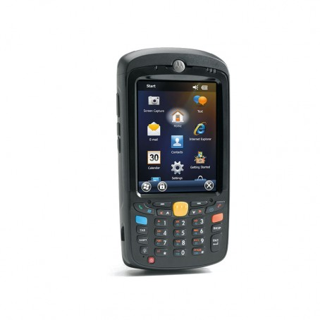 Motorola MC55A0, 1D Laser, WLAN 802.11 a/b/g, Bluetooth, Kamera, 256MB RAM/1GB Flash, NUM, WM 6.5 Classic, 3600 mAh Akku