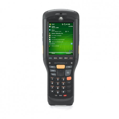 Motorola MC9500-K, Brick, WLAN 802.11 a/b/g, LAN, 2D Imager, GPS, 256MB/1G, Numeric Phone, WM 6.5, Bluetooth