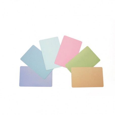 Kunststoff-Karten, 0,76mm, gelb, 500 Stück, Zebra Premier PVC Karten