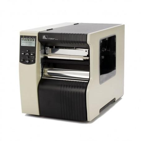 Zebra 170Xi4, 200 dpi, Rewind mit Peel Off