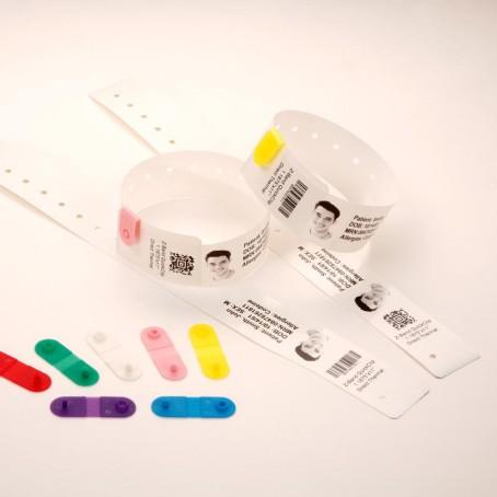 Thermopapier-Armbänder 30 x 279 mm, Zebra Z-Band Quickclip (HC100), weiß