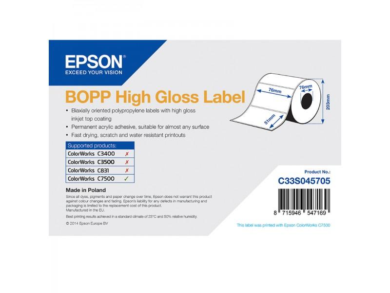 Epson Kunststofftiketten, glänzend, 76mm x 51mm, 2770 Etiketten/Rolle