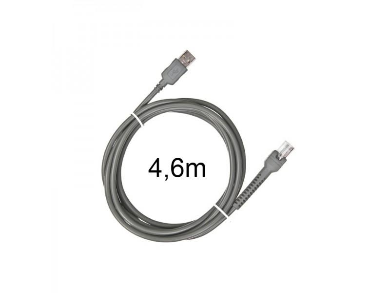 Zebra Verbindungskabel - USB, gerade, geschirmt, 4,6m