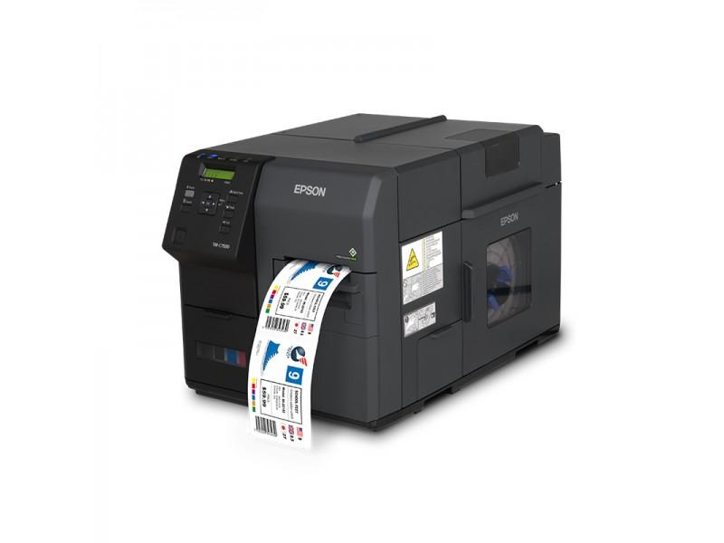 Epson ColorWorks C7500, 600 x 1200 dpi, Cutter, Dispenser, USB, Ethernet, schwarz