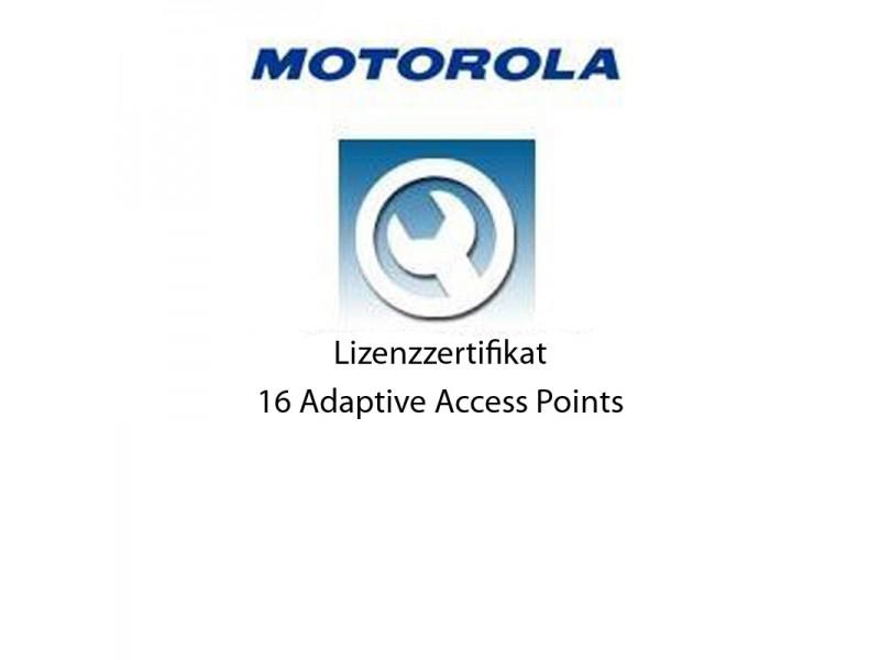 Motorola RFS6000 - Lizenz Zertifikat für 16 Adaptive Access Points