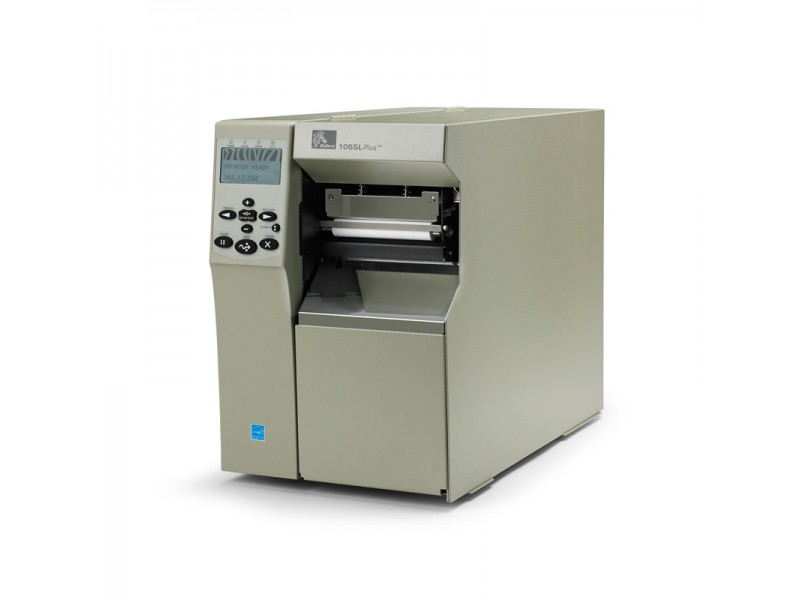 Zebra 105SLPlus, 200 dpi, Cutter und Korb, 8MB Flash, ZebraNet b/g Wireless Print