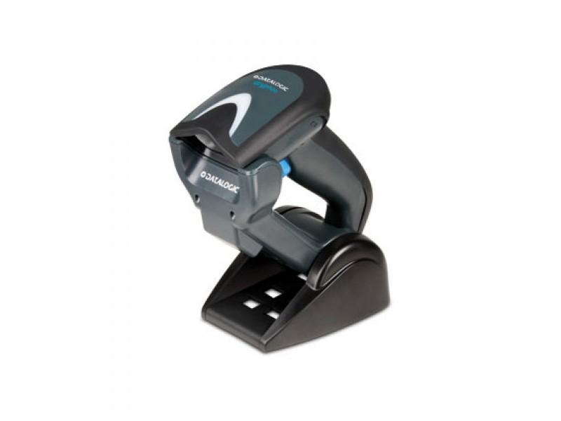 Datalogic Gryphon I GBT4100, Scanner-Kit, Charger, Bluetooth, Linear Imager, Green Spot, schwarz