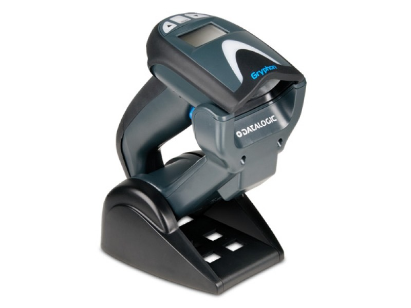 Datalogic Gryphon I GM4100, Scanner-Kit, RS232, schwarz - 433MHZ