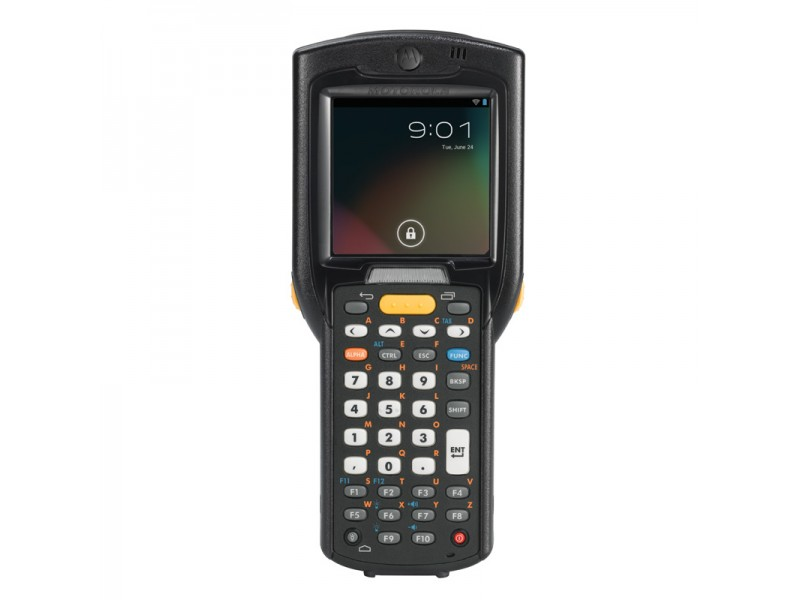 Motorola MC3200 , 1D Laser, 802.11a/b/g/n WLAN, Straight Shooter, Bluetooth, 38 Tasten, High Capacity Akku, Android, 1GB RAM/4GB ROM