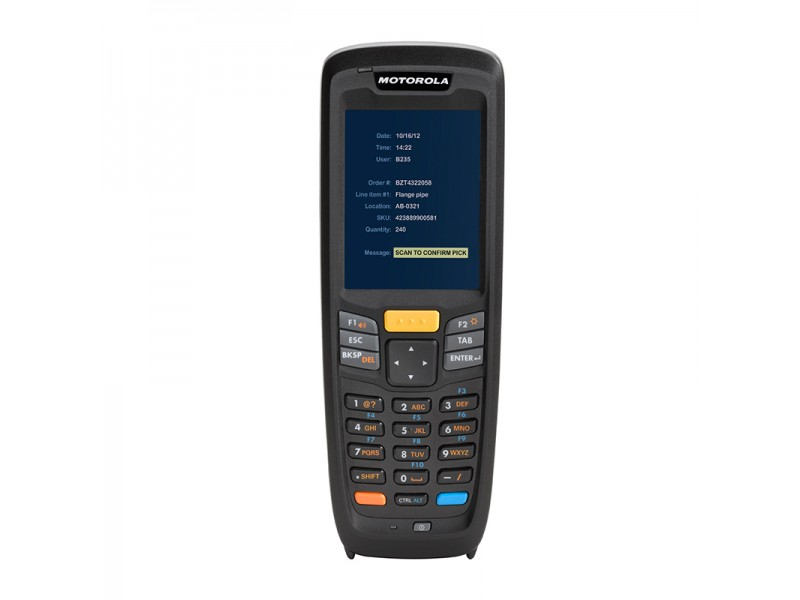 Motorola MC2180, 1D-Laser, WLAN 802.11a/b/g/n, Bluetooth, Standard Akku, Windows CE 6.0 Pro, engl.