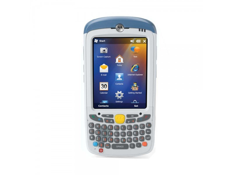 Motorola MC55A0-HC, 2D Imager DL, WLAN 802.11 a/b/g, BT PAN, Kamera, 256MB RAM/1GB Flash, NUM, WM 6.5 Classic, 3600 mAh Akku, HC