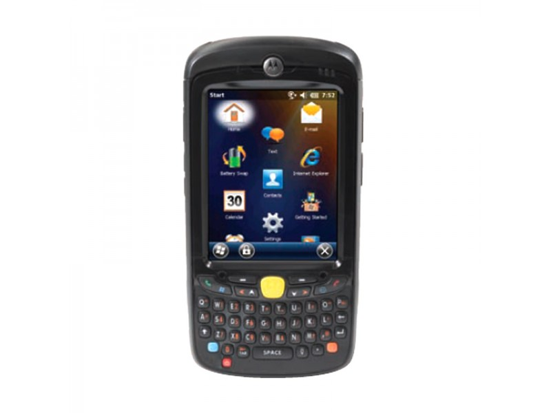 Motorola MC55N0, 2D Imager, WLAN 802.11 a/b/g, BT, 256MB RAM/1GB Flash, QWERTY, WM 6.5 Classic, 2400 mAh Akku