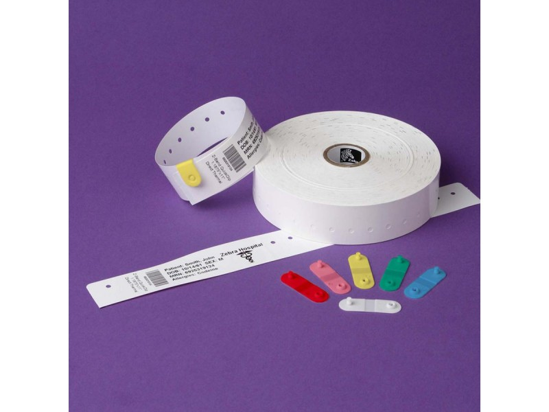 Thermopapier-Armbänder 25 x 178 mm, Zebra Z-Band Quickclip