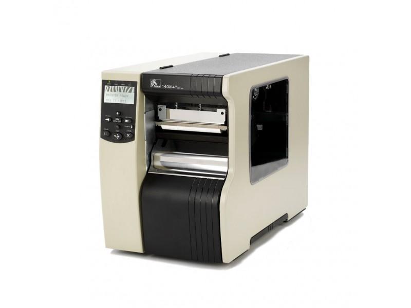 Zebra 140Xi4, 200 dpi, Rewind mit Peel Off