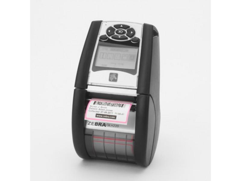 Zebra QLn220, 200 dpi, Bluetooth, WLAN a/b/g/n, Linerless, ext. Akku