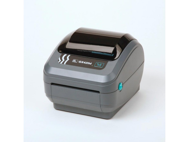 Zebra GX420d, 200 dpi, Dispenser (Peeler), 64 MB Flash & 8 MB SDRAM, Beweglicher Media Sensor, auto-sensing