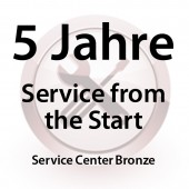 5 Jahre Service from the Start Service Center Bronze für MC31XX