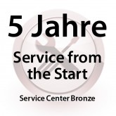 5 Jahre Service from the Start Service Center Bronze für MC31XX