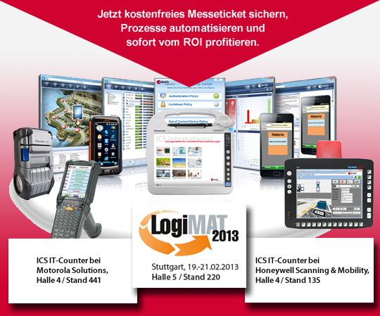 ICS auf der LogiMAT 2013: Messeticket sichern.