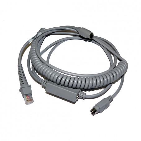 IBM PS/2 Wedge Kabel, Mini DIN, gedreht – Externes Netzteil nötig