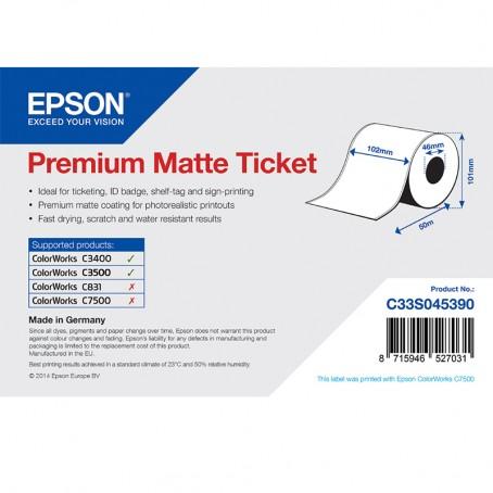Epson Beleg- / Couponrolle, Normalpapier, Premium matt, 102mm x 50m