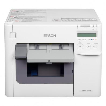 Epson ColorWorks C3500, 720 x 360 dpi, Cutter, Dispenser, USB, Ethernet, weiß