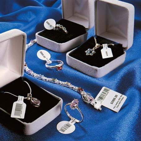 Schmuck-Etiketten 56 x 13 mm, Zebra 8000D Jewelry