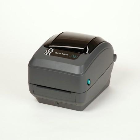 Zebra GX420t, 200 dpi, interner Printserver 10/100, beweglicher Media Sensor, 64 MB Flash & 8 MB SDRAM, auto-sensing