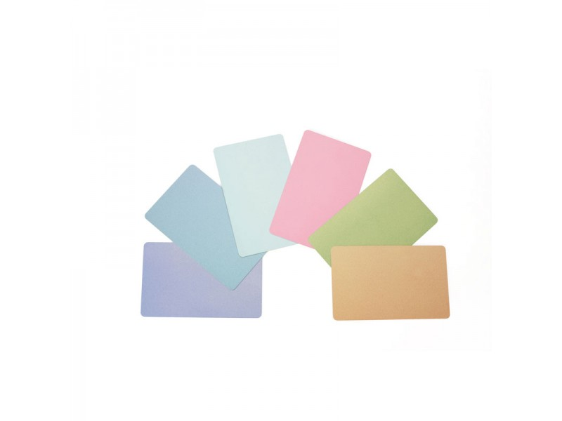 Kunststoff-Karten, 0,76mm, rot, 500 Stück, Zebra Premier PVC Karten