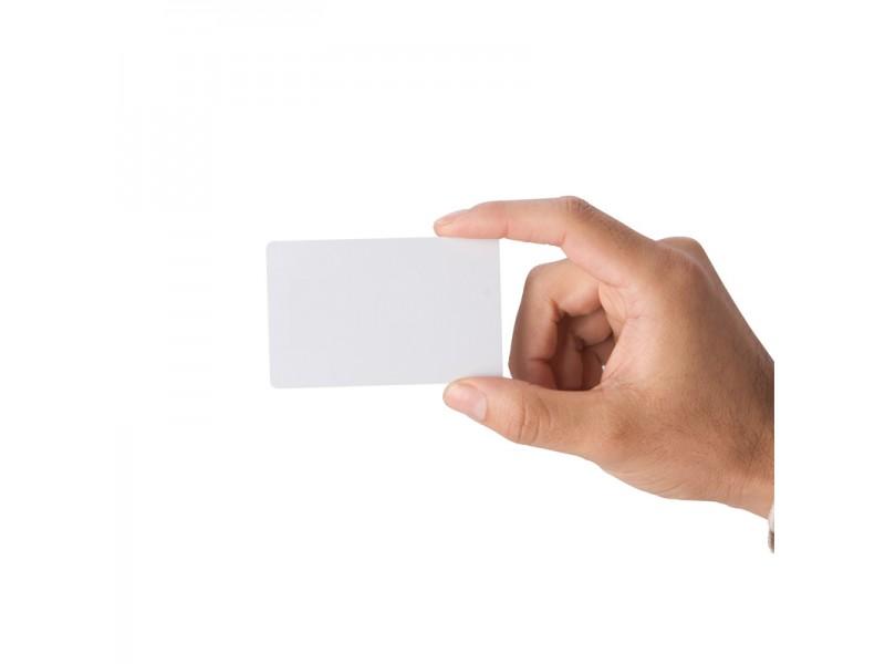 Kunststoff-Karten, 0,25mm, klebend, weiß, 500 Stück, Zebra Premier PVC Karten