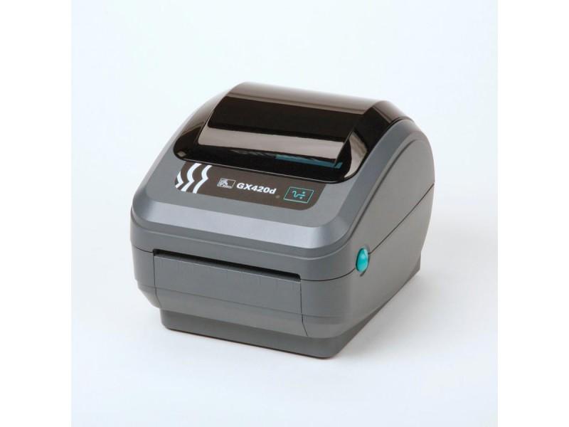 Zebra GX420d, 200 dpi, interner Printserver 10/100, beweglicher Media Sensor, 64 MB Flash & 8 MB SDRAM, auto-sensing