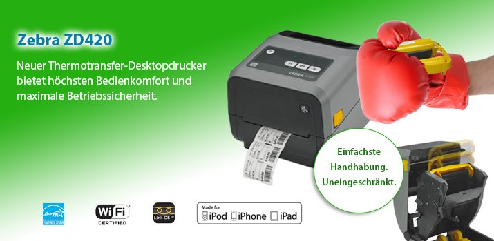 Etikettendrucker mit einzigartigem Bedienkomfort